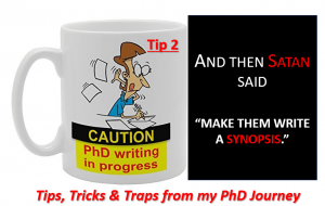 Cross-Eyed PhD: Tip 2- the synopsis