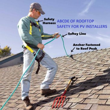Solar PV Safety – working on rooftops..